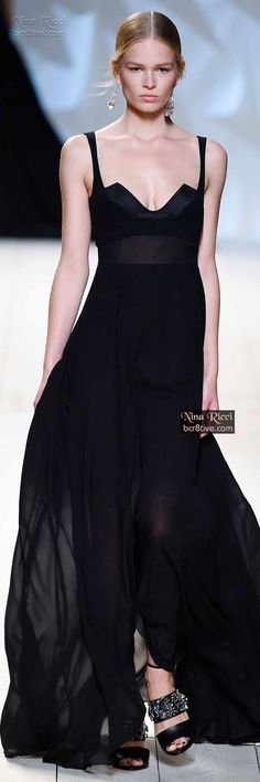 Nina Ricci ~ Evening Gown, Black, Spring 2015