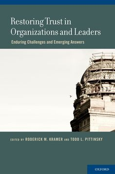 Check out our New Product  Restoring Trust In Organizations And Leaders COD  AUTHOR: Roderick M. Kramer, Todd L. PittinskyPublication date: 05.06.2012  ₹1,945