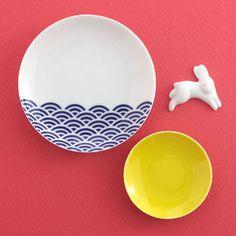 波佐見焼 箸置き小皿セット 月波兎