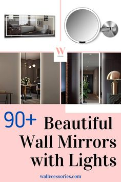 Check out our collection of beautiful wall mirrors with lights here! There are many designs and sizes to choose from, and they will fit perfectly in your bathrooms, bedrooms, and all living spaces. Find yours now! Lighted Wall Mirror, Wall Mirrors, Mirror With Lights, Beautiful Wall, Living Spaces, Bathrooms, Wall Decor, Fit, Check