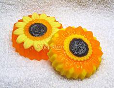 Handmade Beautiful flower Sunflower Scented Soap  by SoapSilkySlim, $2.99