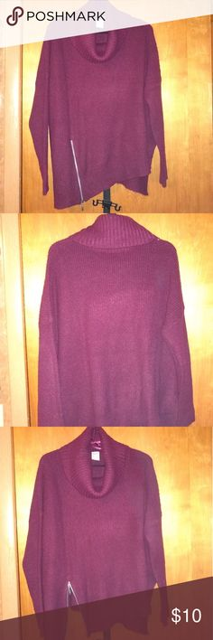 Burgundy sweater only wore once. It's very comfortable. Cuts at an angle and has a zipper on the side. Which you can wear it zipped up or zipped down. Burgundy Sweater, Shrug Sweater, Fashion Tips, Fashion Design, Fashion Trends, Zip Ups, Stylists, Zipper, Best Deals