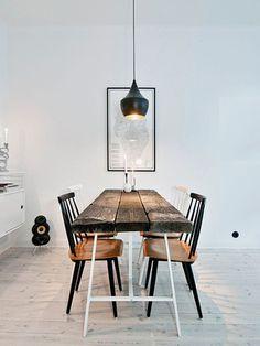 Sala de jantar e pendente