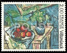 France - stamp, Art, Maurice Vlaminck - Стоковая иллюстрация | by Kapitalist63