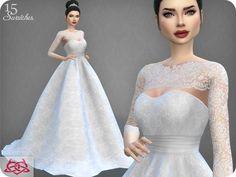 Lana CC Finds - Wedding Dress 7 RECOLOR 4