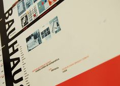 FADU.UBA Diseño 2. INFOGRAFÍA + HITO. Partiendo de un poster de la Bauhaus, se desarrolló una infografía en tres instancias (afiches). Año 2005. Detalle.