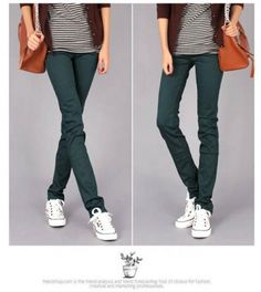 Korean Women's Elastic Colorful Tapered Pant on BuyTrends.com, only price $15.75