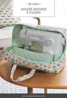 DIY - my Silvercrest Lidl sewing machine cover Coin Couture, Couture Sewing, Sewing Hacks, Sewing Tutorials, Sewing Patterns, Sewing Tips, Dress Tutorials, Tatting Patterns, Dress Patterns