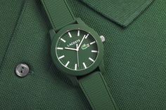 As iconic and recognizable as the crocodile logo is the classic cotton petit pique poloshirt that tennis legend René Lacoste designed in Nicknamed the crocodile for his tenacity on the court, the athlete created Elegant Watches, Casual Watches, Beautiful Watches, Cool Watches, Crocodile Logo, Blue Suit Men, University Style, Lacoste Shoes, Colourful Outfits