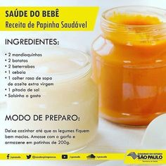 Baby Puree, First Baby, Baby Food Recipes, Fruit, Health, Sweet, Babys, Link, Instagram