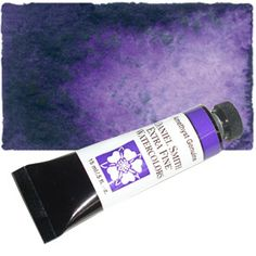 Real Amethyst watercolor paint, oh how I am addicted to thee.