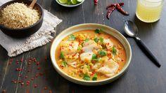 Kokos -og currypanne med torsk