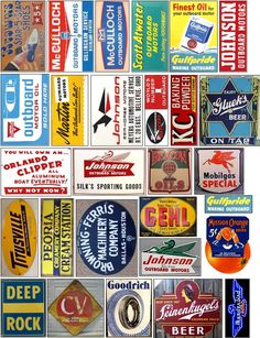 Vintage Tin Signs, Vintage Tins, Vintage Posters, Retro Vintage, American Graffiti, Historical Artifacts, Model Train Layouts, Advertising Signs, Scrapbook Stickers