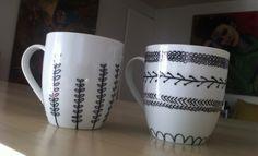 decorar tazas con sharpie