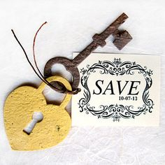 For a spring wedding, get save-the-dates printed on seeded paper, which your guests can plant. I love this using our Lock and Keys die http://www.accucutcraft.com/lock-keys.html