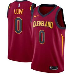 a33b2fca1294 Nike Cavaliers  0 Kevin Love Red Stitched NBA Swingman Jersey