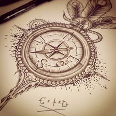 compass drawing tattoo - Buscar con Google