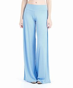 Frumos Blue Palazzo Pants - Women & Plus | zulily