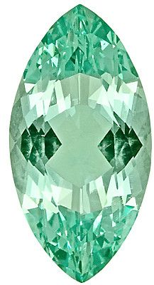 Green Beryl Loose Gemstone, Marquise Cut, 15.1 x 7.8 mm, 3.18 Carats at BitCoin Gems