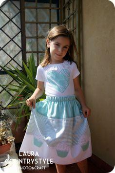 Cupcakes summer skirt