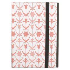 Art Nouveau Spring Bulbs  Monogram -l White Coral Case For iPad Air - elegant gifts gift ideas custom presents