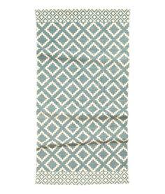 Gemusterter Baumwollteppich   Naturweiß/Graublau   Home   H&M DE