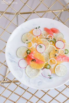 Fun ways to use citrus fruit at your wedding | ElegantWedding.ca Wedding Food Catering, Wedding Food Stations, Wedding Reception Food, Fruit
