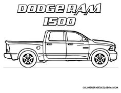 Dodge Ram Truck Coloring Page Teacher Stuff Pinterest Dodge