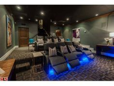 The LED seat lighting is a cool bonus feature to have in a home theater. Beverly Hills, FL Coldwell Banker Residential Brokerage