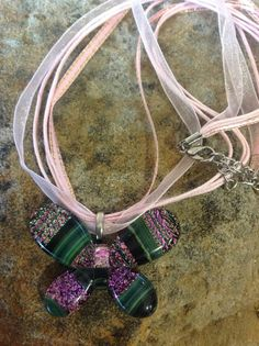 Murano Glass Pendent Necklace by HighVoltageJewelry on Etsy, $25.00