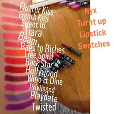 Nyx turnt up lipstick swatches makeup