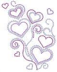 Heart with Scrolls Rhinestone Transfer small