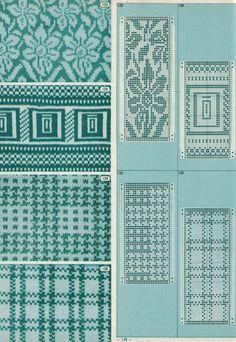 annadrianna — «Pattern Library for Punch Card Knitters 1973 Designer Knitting Patterns, Knitting Machine Patterns, Knitting Charts, Knitting Designs, Knitting Stitches, Fair Isle Chart, Fair Isle Pattern, Crochet Cross, Crochet Chart