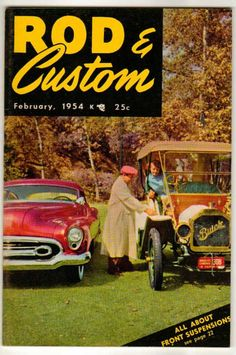 Rod & Custom Car Magazine February 1954 #10 Old Vintage Classic Buick Ford Coupe