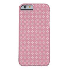 Pink/white crosses and dots pattern barely there iPhone 6 case   Special colors for her. Trendy pink-style pattern. Have a glamorous case nobody can't notice. Stay cool!