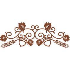 Silhouette Design Store - View Design #161260: swirls thanksgiving border