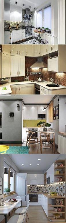 Дизайн кухни в хрущевке (65 фото) – Идеи интерьеров