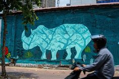 """Throughout the month of March, a unique graffiti campaign popped up on the walls of several streets in downtown Ho Chi Minh City, the hyperactive commercial capital of Vietnam. The works differed from the usual tags and designs that adorn urban areas around the world. The graffiti pieces, 17 in all, carry a simple message: """"Save the rhinos,"""" or """"Cứu tê giác"""" in Vietnamese.Vietnam is home to one of the largest African rhino horn consumer bases in the world, in addition to being a key transit…"""