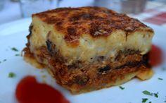 Receita de moussaka lasanha grega para a fase cruzeiro PL dukan.