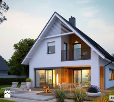 Riko G1 to prosty, nowoczesny i wygodny dom, w którym komfortowo zamieszka 4-5-osobowa rodzina. Śnieżnobiała elewacja, dla kontrastu przełamana drewnianymi detalami, prezentuje się ...