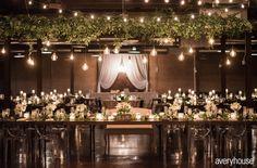 LOLA Event Productions | Morgan Manufacturing Wedding | Averyhouse  Photography | Wedding Photography | Loft Wedding | Chicago Wedding | Wedding Details |  Decor |  Wedding Decor  | greenery | Wedding Lighting | Exquisite Designs |