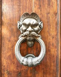 Grumpy old door knocker