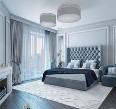 Luxury bedroom master - 71 modern and simple master bedroom design ideas 19 masterbedroom masterbedroomideas Blue Master Bedroom, Master Bedroom Design, Home Decor Bedroom, Bedroom Furniture, Bedroom Designs, Master Suite, Bedroom Boys, Single Bedroom, Furniture Ideas