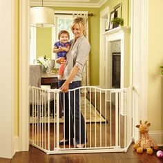 Top Of Stairs Gate Baby Safety Fence Dog Pressure Mounted Hardware Door  Sockets | Baby Gate | Pinterest | Baby Gates, Stair Gate And Gate