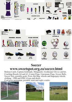 Sweetspot is a sports equipment supplier that supplies a large range of sports. Soccer Equipment, Netball, Goalkeeper, Rugby, Flags, Coaching, Gloves, Boards, Corner
