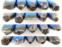20 piece Vintage Metal design stamp -  jewelry tools - wax tools - metal clay tools