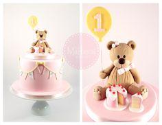 Teddy Bear & Bunting Cake