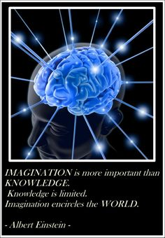 Knowledge is limited. Imagination encompasses the world. Einstein