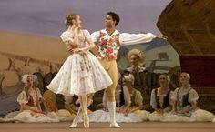 "Marianela Nunez (Lise) & Carlos Acosta (Colas) with The Royal Ballet in ""The Wayward Daughter"" Ballet Images, Ballet Photos, Ballet Boys, Ballet Dancers, Bolshoi Ballet, Royal Ballet, Ballet Costumes, Dance Costumes, Dance All Day"
