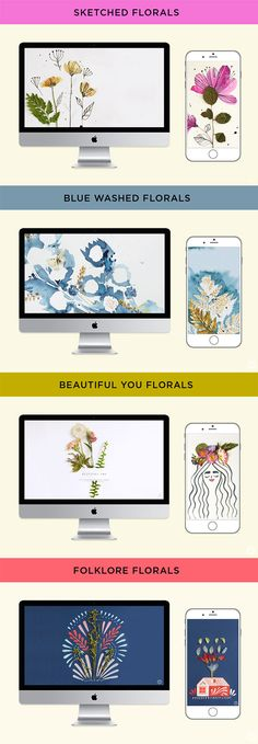 Looking for a fresh new iPhone wallpaper? Think.Make.Share has four brand new iPhone or desktop wallpapers available for FREE downloads. The beautiful pressed florals make a perfect background for iPhone or desktop. Click through to download all four!